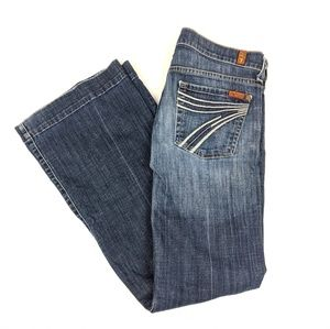 7 For All Mankind Dojo Jeans *with Flaw size 27